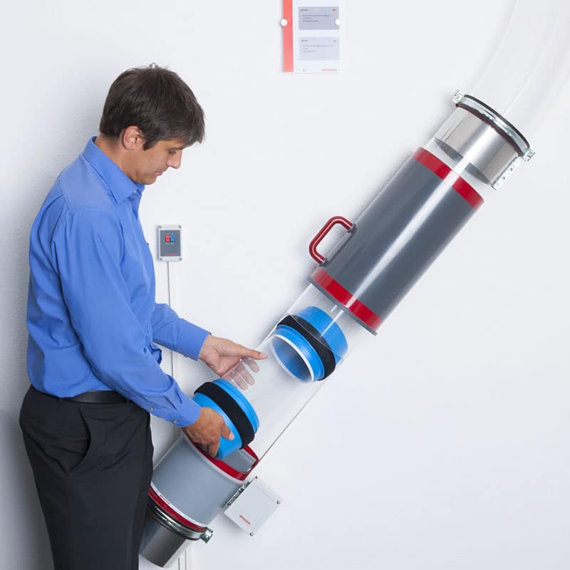 Transport pneumatique : découvrez les solutions Aerocom, système point-point