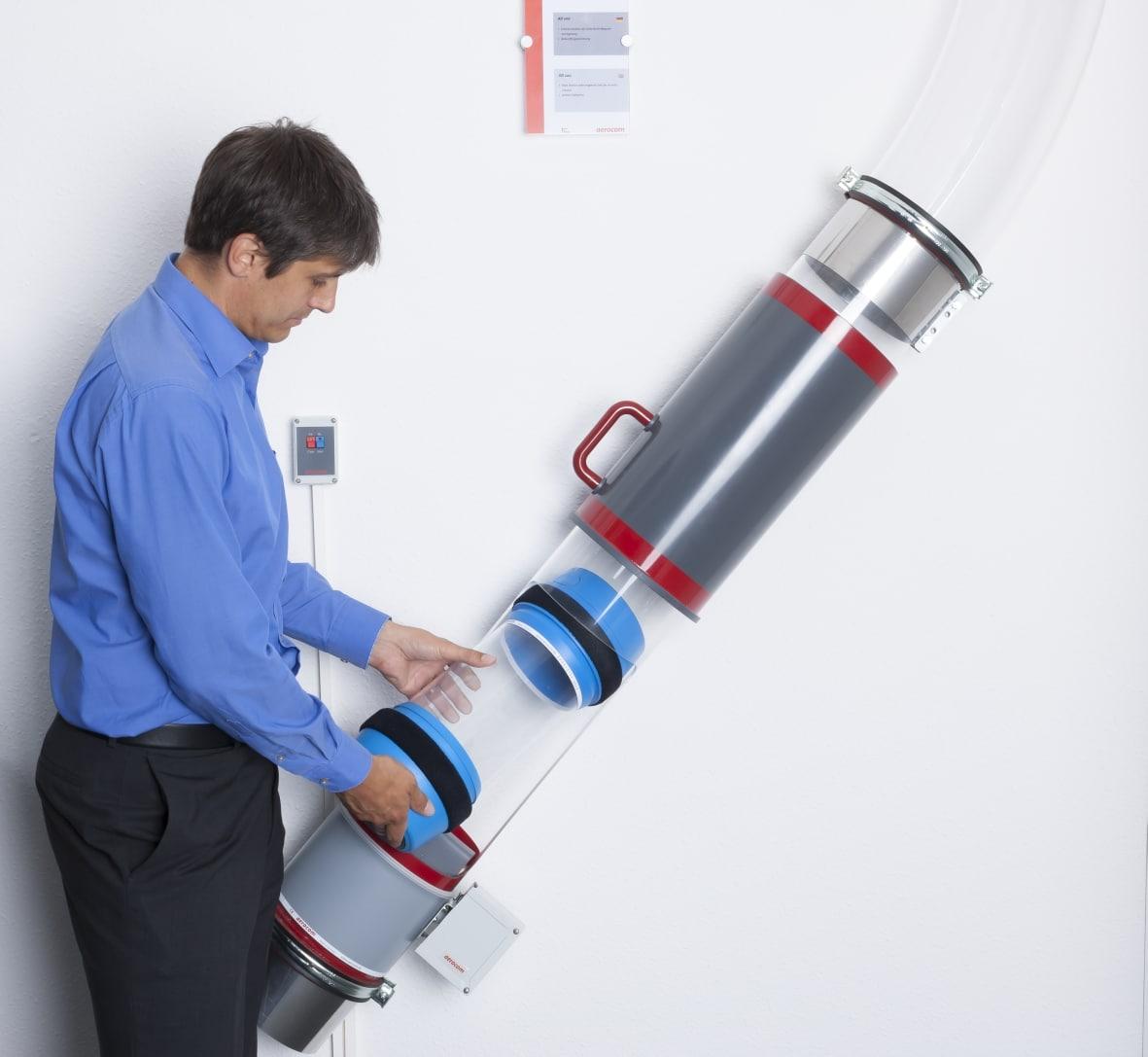Transport pneumatique : découvrez les solutions Aerocom - système point-point